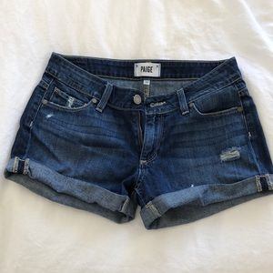Paige Distressed Cuffed Shorts Size 23